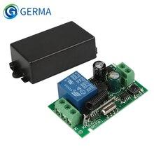 Germa ac 250v 110v 220v 1ch 433mhz, controle remoto universal sem fio, receptor do módulo de relé para motor da porta da garagem