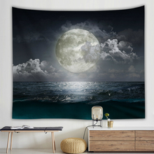 Ocean Landscape Wall Cloth Tapestries Sea Moon 3D Printed Tapestry Wall Hanging Art Living Room Decoration Hippie Background wall hanging art window ocean print tapestry