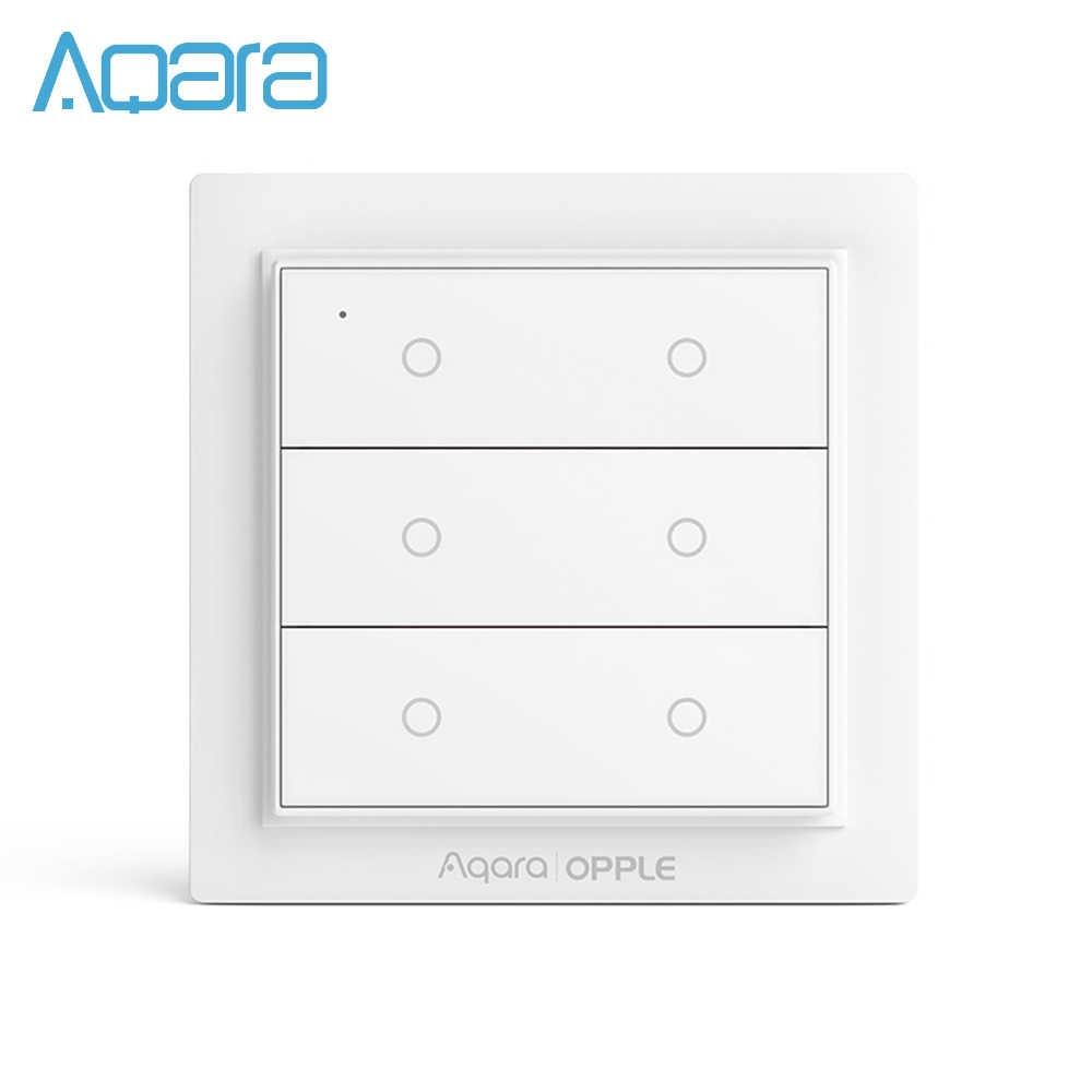 Aqara Opple Scene Switch Wireless Smart Switch Homekit Smart Aplikasi Remote Control Smart Homekit Dinding Beralih Dua Empat Enam Tombol