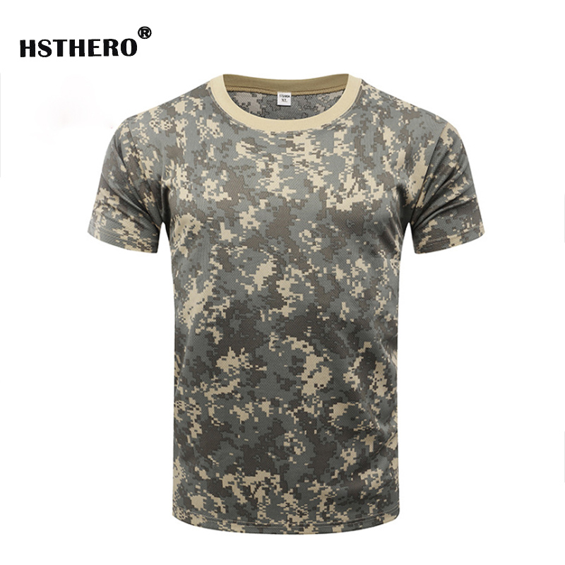 Tactical Army Tee Tops Camouflage Men T Shirt Summer Male Women Military Shirt Spring O Neck Quick Dry Short Sleeve Clothing