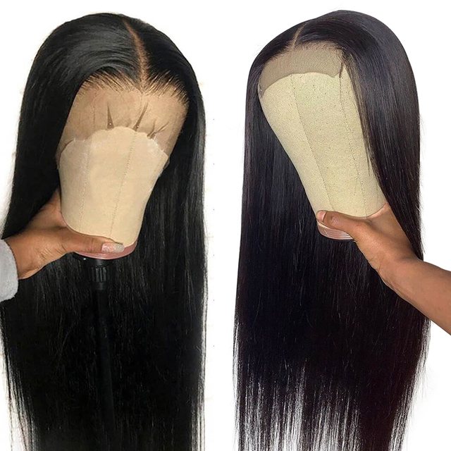30 Inch Bone Straight Lace Front Wig Short 4x4 Closure Wig Brazilian Long Lace Frontal Human Hair Wigs For Black Women Hd Full