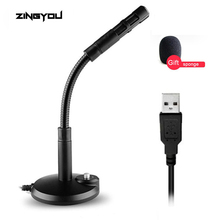 ZINGYOU Mini USB Studio Speech Microphone Adjustable Laptop High Quality Microphone Stand Desktop Mic With Holder For Game Chat