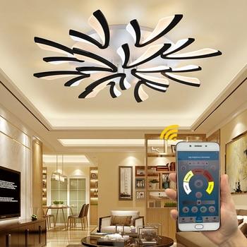 Modern LED Chandelier Ceiling chandeliers Lighting For Living Room Bedroom kitchen Lustre With Remote Control Light Fixtures
