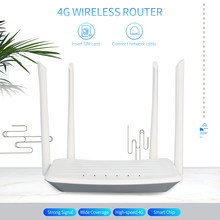 4G LTE Wireless Router 300Mbps High Power CPE Router with SIM Card Slot External Antennas Strong Signal wifi adapter EU Version(China)