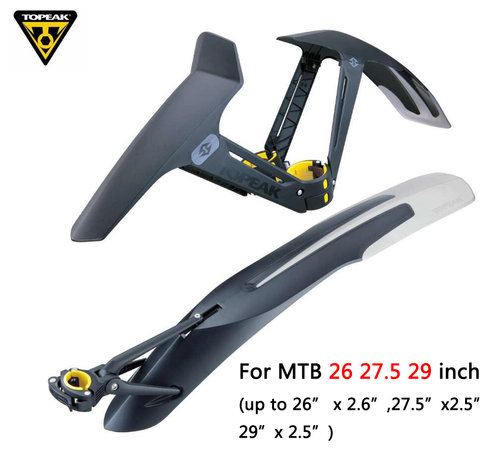 TOPEAK Mountain Bike Mudguard MTB Fender For 26 27.5 29 Inch Wings Bike Mud Guard  Bicycle Accessories