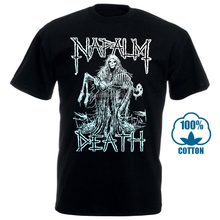 Napalm Death Reaper Official T Shirt Heavy Metal New S M L Xl 2Xl Cotton Loose Short Sleeve Mens Shirts 032107(China)