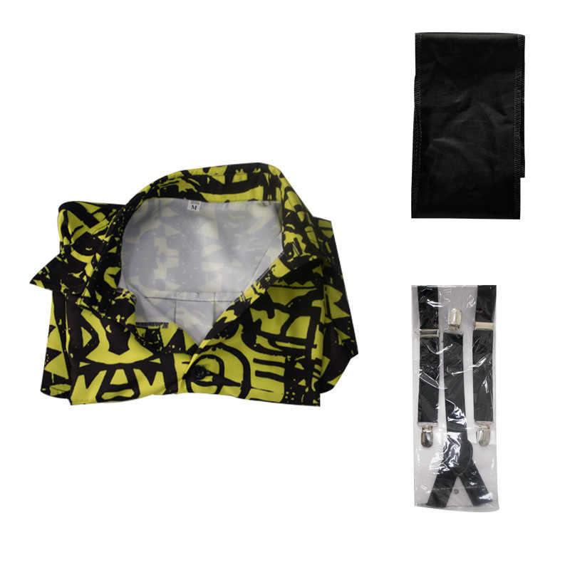 Карнавальный костюм «странные вещи» Eleven, желтая рубашка с воротником и принтом для девочек, женское платье 80 s, костюм, комплект одежды Mardi Gras