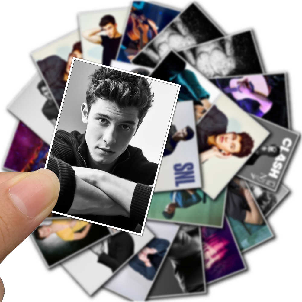 50PCS Handsome Boy Music Singer Shawn Mendes Poster Sticker for Fans Car Bicycle Luggage Laptop Phone Decal Waterproof Stickers
