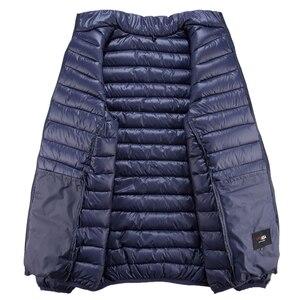Image 4 - Chaqueta de invierno de talla grande para hombre, prendas de vestir gruesas cortas y cálidas, Softshell, Plumífero, ultraligeros, 5XL, 6XL, 7XL, 8XL