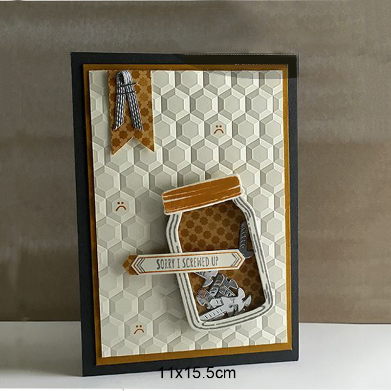 3D Embossing Folder Honeycomb Scrapbooking Plastic Embosser Folders For Card Making Supplies Album Wedding Paper Crafts Decor