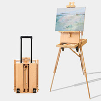 Easel Sketching Watercolor Oil Paint Chinese Painting Artist Beech Alder Floor Easel Caballete De Pintura Painting Accessories