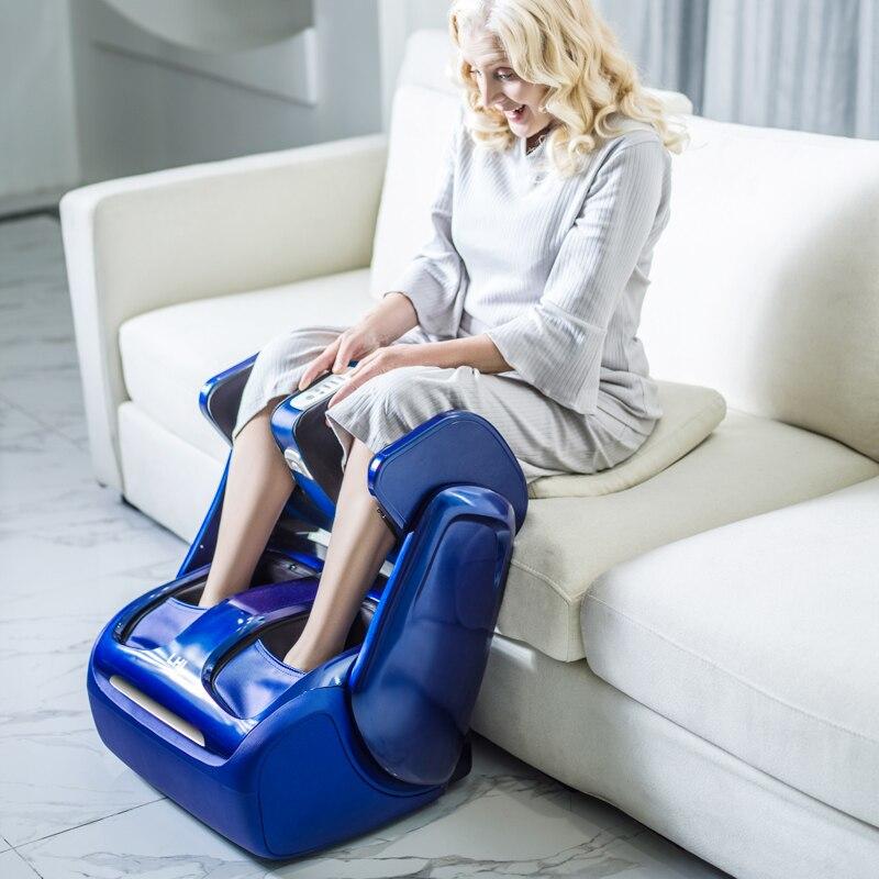 Elektrische Bein Fuß Massage Knie Heizung Kalb Massage Maschine Luftdruck Luft Kompression Roller Shiatsu Massageador Eletrico