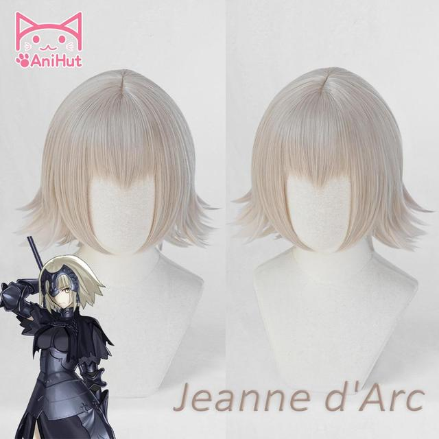 【AniHut】Alter Jeanne DArcวิกผมFate Grand Orderคอสเพลย์วิกผมสังเคราะห์วิกผมFGO Joan Of Arc
