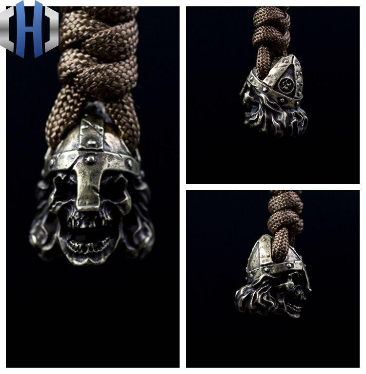 Original nordic samurai crânio capacete artesanal faca