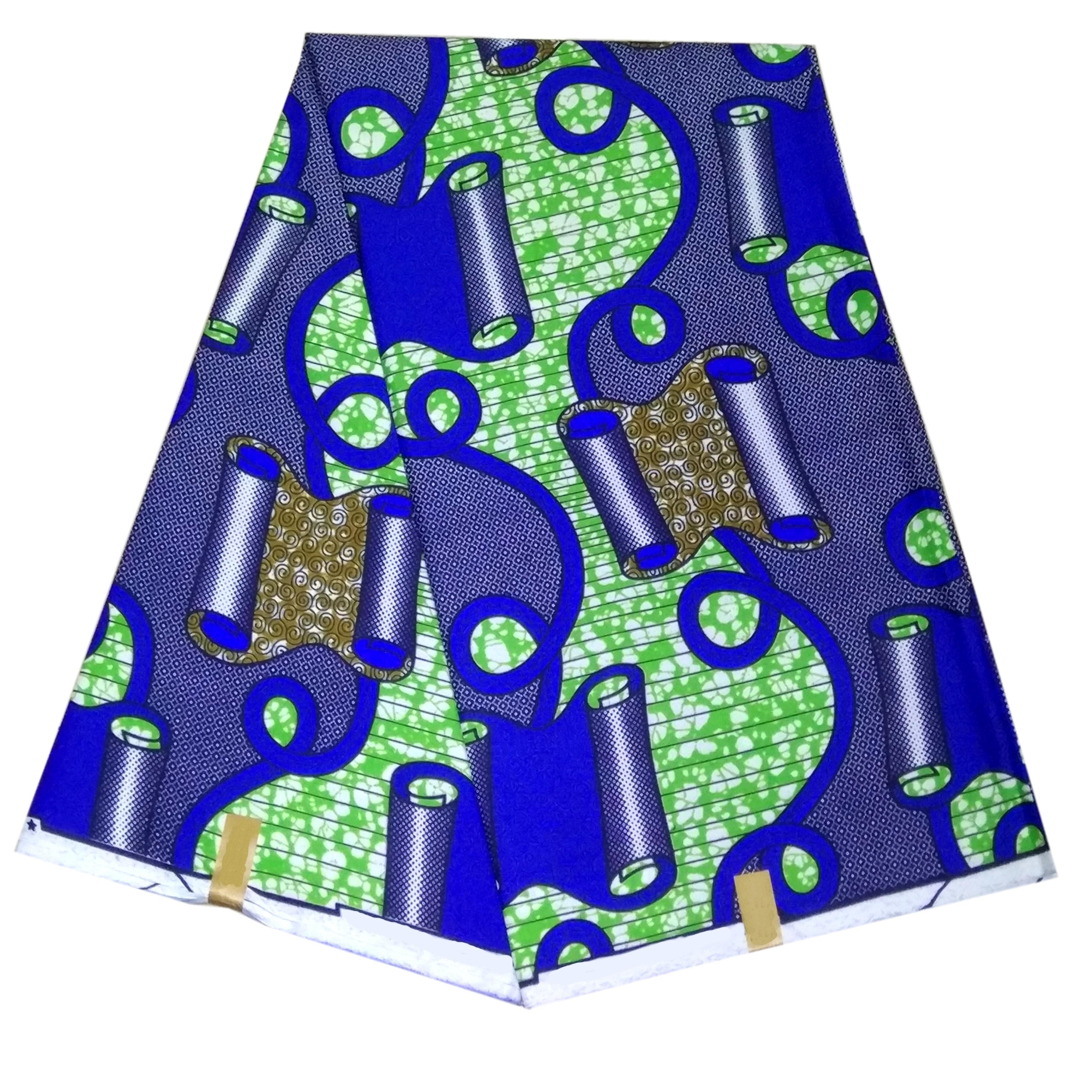 African Ankara Print Wax Fabric Veritable Wax Dutch Polyester African Fabric 6 Yards