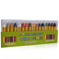 Crayones pintados en caja de 16 colores para niños/suministros de arte/suministros de pintura/crayones de dibujo para niños