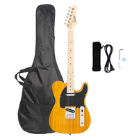 Dropshipping Glarry GTL Maple Fingerboard Electric Guitar Bag Strap Plectrum Connecting Wire Spanner Tool New Arrivals