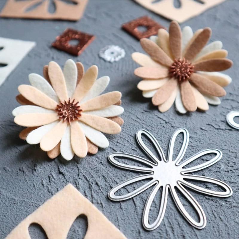 New Flower Dies Stencil Punch Metal Cutting Dies Scrapbooking Album Paper Cards Decorative DIY Crafts Embossing