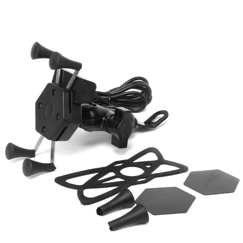 Motorcycle Motorbike Handlebar Holder Mount Stand GPS W/ USB Charger Electric Car Lazy Mobile Phone holder For iphone Huawei