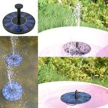 Dropshipping Mini zasilany energią słoneczną fontanna basen ogrodowy pływająca fontanna solarna staw zewnętrzny Panel słoneczny dekoracja ogrodu