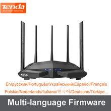 Tenda ac11 wireless wifi roteador gigabit dupla-faixa ac1200 com 5 * 6dbi antenas de ganho alto cobertura mais ampla