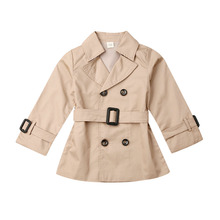 New Children Girl Trench Coats Kids Autumn Double-breasted Trench