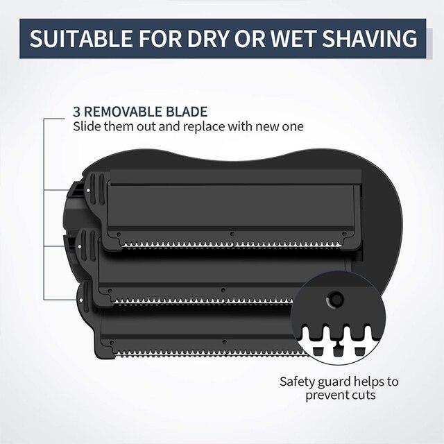 Liberex Back Shaver for Men Folded Razor Dry Wet Shaving Manual Hair Removal 18 Inch Adjustable 6 Blades Body Groomer Trimmer 2