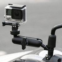 Мотоцикл Велосипед Камера держатель руль зеркало кронштейн 1/4 металлическая подставка для GoPro Hero8/7/6/5/4/3 + действие Камера s аксессуар
