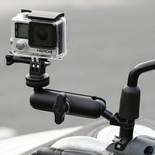 Motosiklet bisiklet kamera tutucu gidon ayna montaj braketi 1/4 Metal standı GoPro Hero8/7/6/5/4/3 + aksiyon kameraları aksesuarı