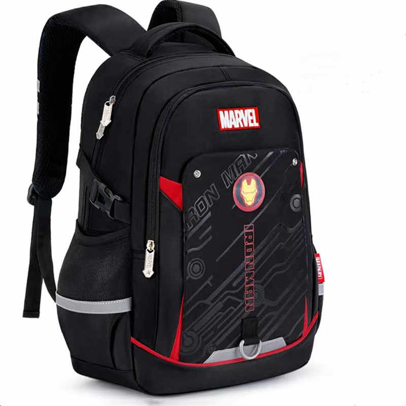 Disney marvel school bags for boy iron man captain america large capacity water proof light school backpack teenage kids mochila