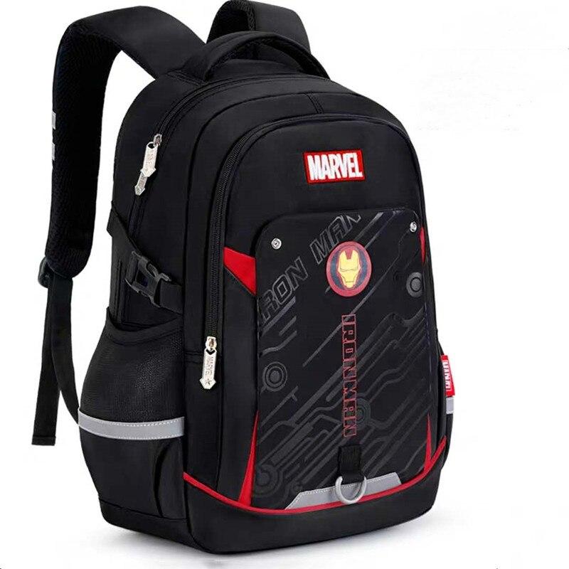 Disney marvel school bags for boy iron man captain america large capacity water proof light school backpack teenage kids mochila