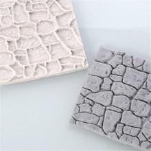 Cobble Stone Wall Line Cake Mold Grain Shape Silicone Printi
