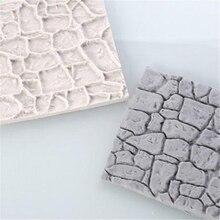 New Cobble Stone Wall Line Grain Shape Silicone Printing Texture Mat Sugar craft