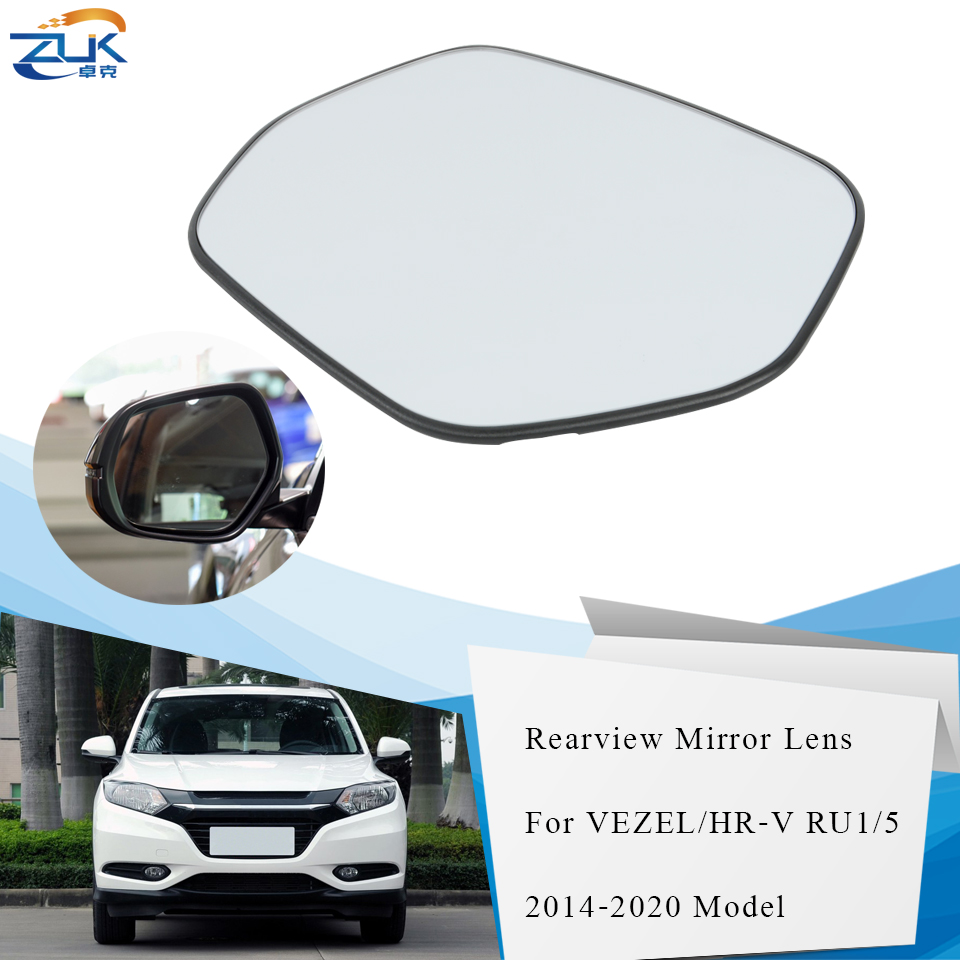ZUK Left Right Heated Outer Rearview <font><b>Mirror</b></font> Lens <font><b>Side</b></font> <font><b>Mirror</b></font> Glasses For <font><b>HONDA</b></font> VEZEL <font><b>HRV</b></font> 2015 2016 2017 2018 2019 2020 RU1 RU5 image