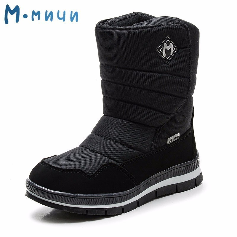 MMnun Boots Kids Anti-slip Children's Winter Boots Warm Winter Boots Boys Snow Shoes Children Size 31-38 ML9632