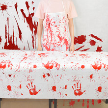 1 Pza Horror sangre mantel Bloody delantal decoración de Halloween Butcher Cosplay accesorios casa embrujada accesorios de miedo(China)