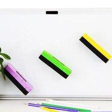 С магнитной доской резиновый инструмент для очистки маркера живопись протирать чистой школы питания сухой доски ластик доска случайный цвет