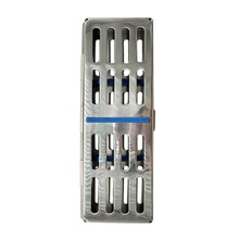 1Pcs Dental S-Terilization Box Dental Cassette Disinfection Rack Tray Stainless Steel Box Dentistry Material Dentist Tool(China)