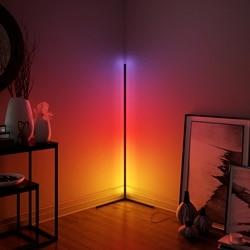 Modern LED Corner RGB Floor Lamp for Bedroom Bedside,Living Room Atmosphere Colorful Home Decor Indoor lighting Standing Lamps