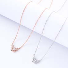 Butterfly Pendant Necklace Female Fashion Jewelry Ladies Fine Jewelry Gift Party Decoration Charm Clavicle Chain Birthday Gift birthday party fine 24k necklace pendant heart shape design arab charm female anniversary gift jewelry accessory