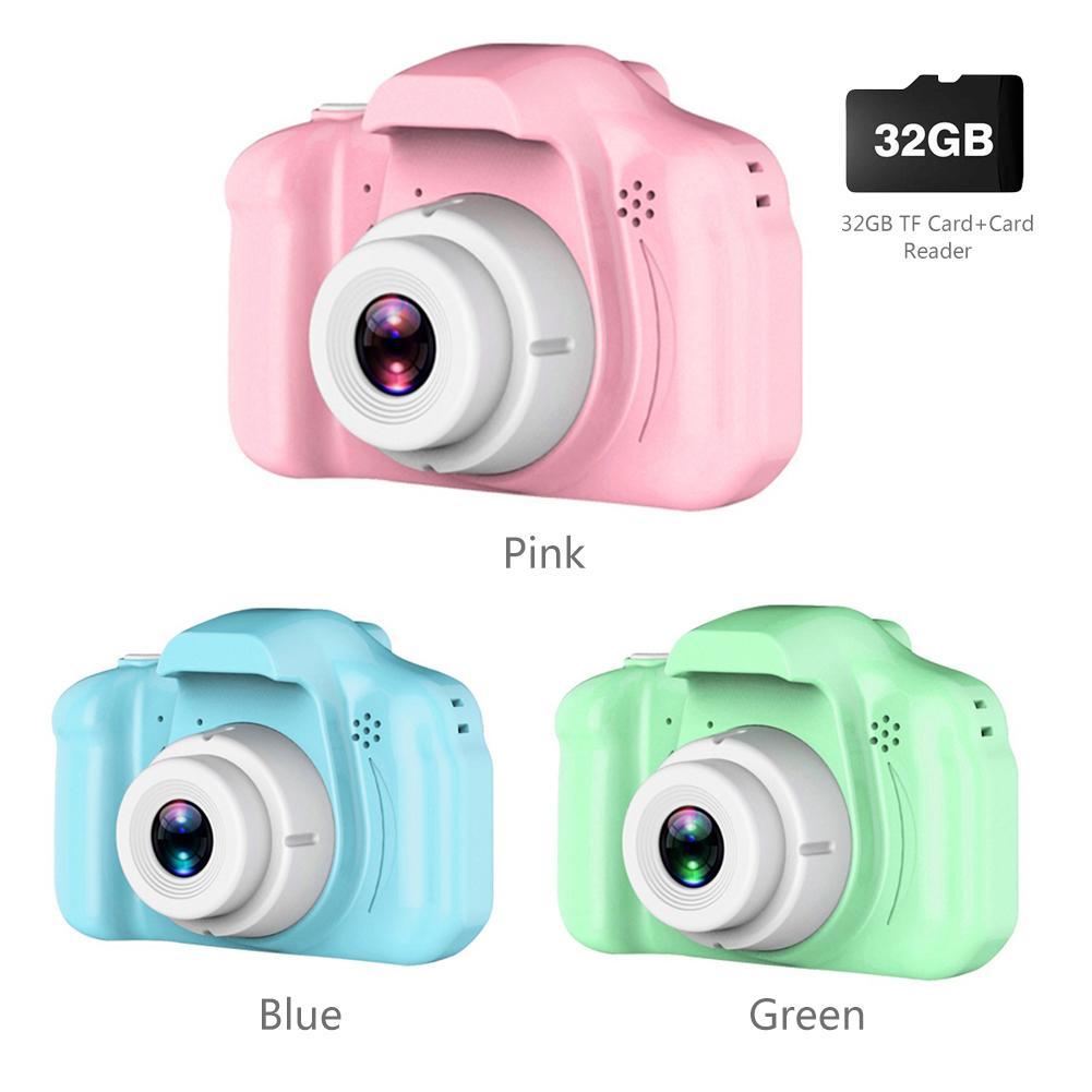 Children's Camera Waterproof 1080P HD Screen Camera Video Toy 8 Million Pixel Kids Cartoon Cute Camera Birthday New Year Gifts
