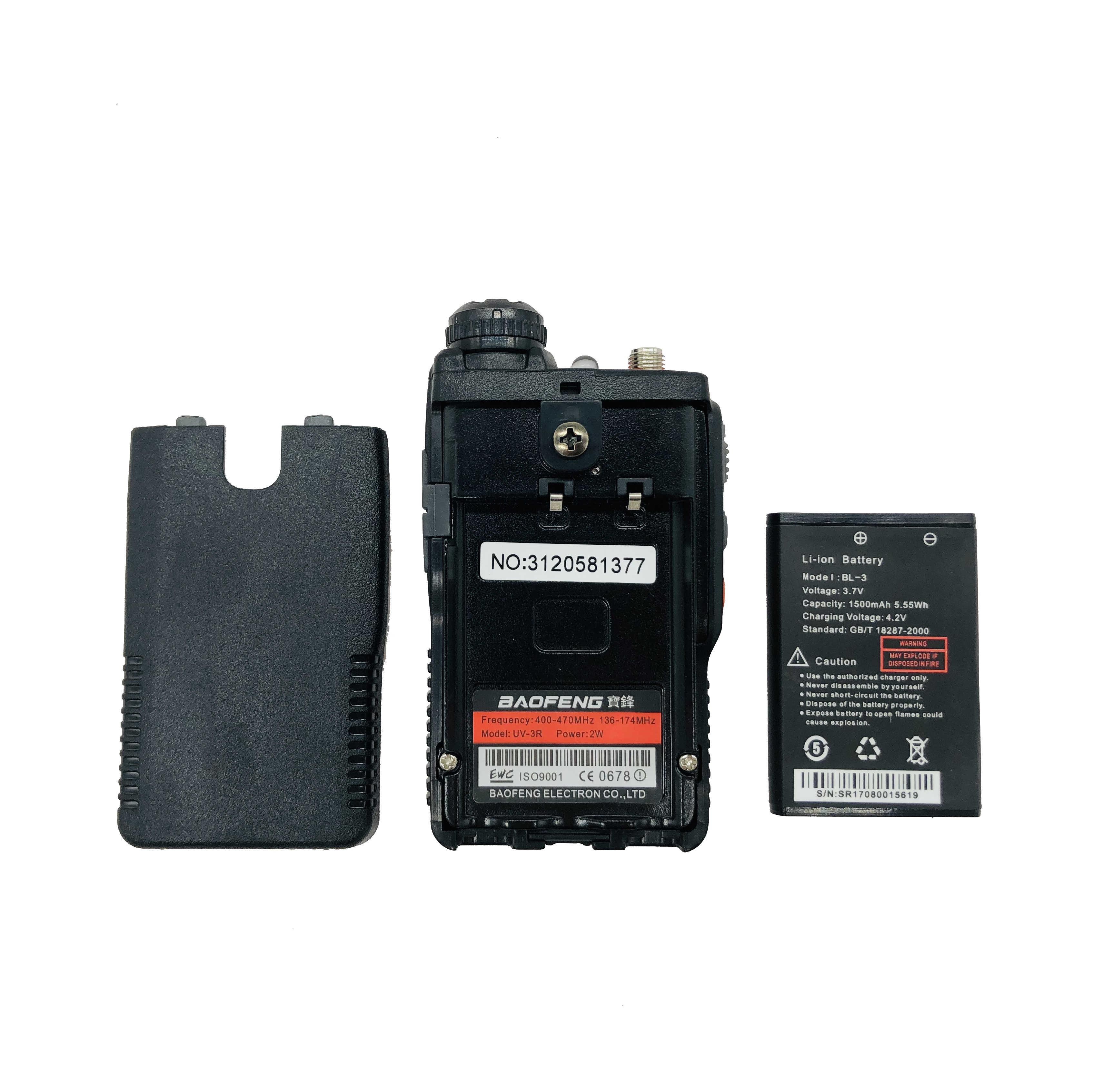 Baofeng Talkie-walkie UV-3R 136-174/400-470 MHz Portatif Radio UV 3R Plus Mini Bi-bande Jambon Radio Pour Le Camping En Plein Air