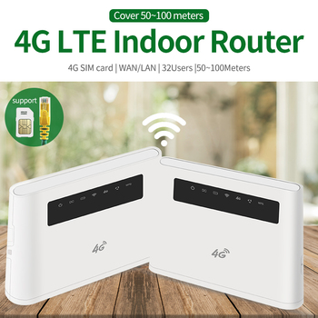 3G 4G Portable Hotspot Lte Wifi Router Wan / Lan Port Dual External Antenna Unlocked Wireless Cpe Router + Sim Card Slot 4G LTE цена 2017