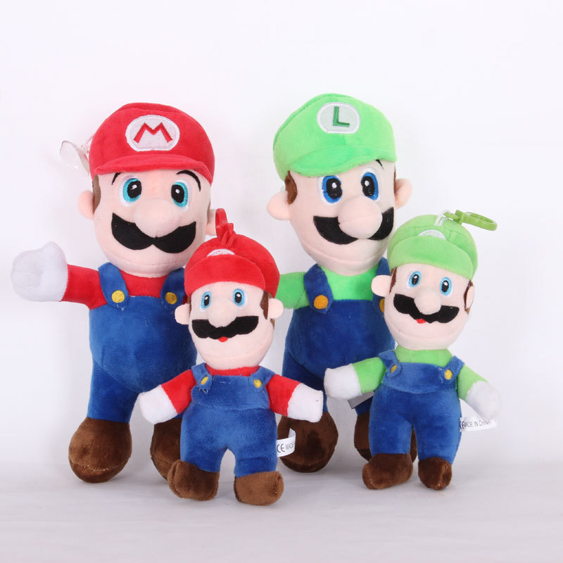 1pcs 18-25cm Super Mario Plush Toy Doll Mario Bros Stand Luigi & Mario Plush Soft Stuffed Toys For Children Kids Birthday Gift