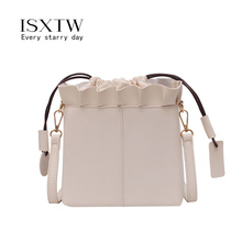 ISXTW 2019 Women bag Hot Selling Bucket Bag Women PU Leather Shoulder Bags Brand Designer Ladies Crossbody messenger Bags  / 45 new brand simple style hot bags women messenger bags ladies bucket bag pu leather crossbody shoulder bag