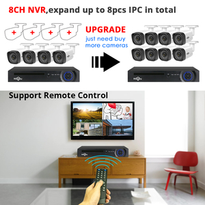 Image 3 - Hiseeu 8CH 1080P POE NVR CCTV система безопасности 4 шт. 2.0MP аудио запись IP камера ИК P2P комплект наружного видеонаблюдения 1 ТБ HDD