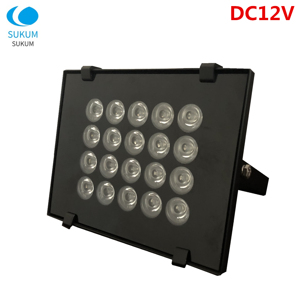 DC12V 20LED Infrared for Illuminators Light Lamp Night Vision Metal Camer Fill Light For CCTV Security Accessory Waterproof IP65