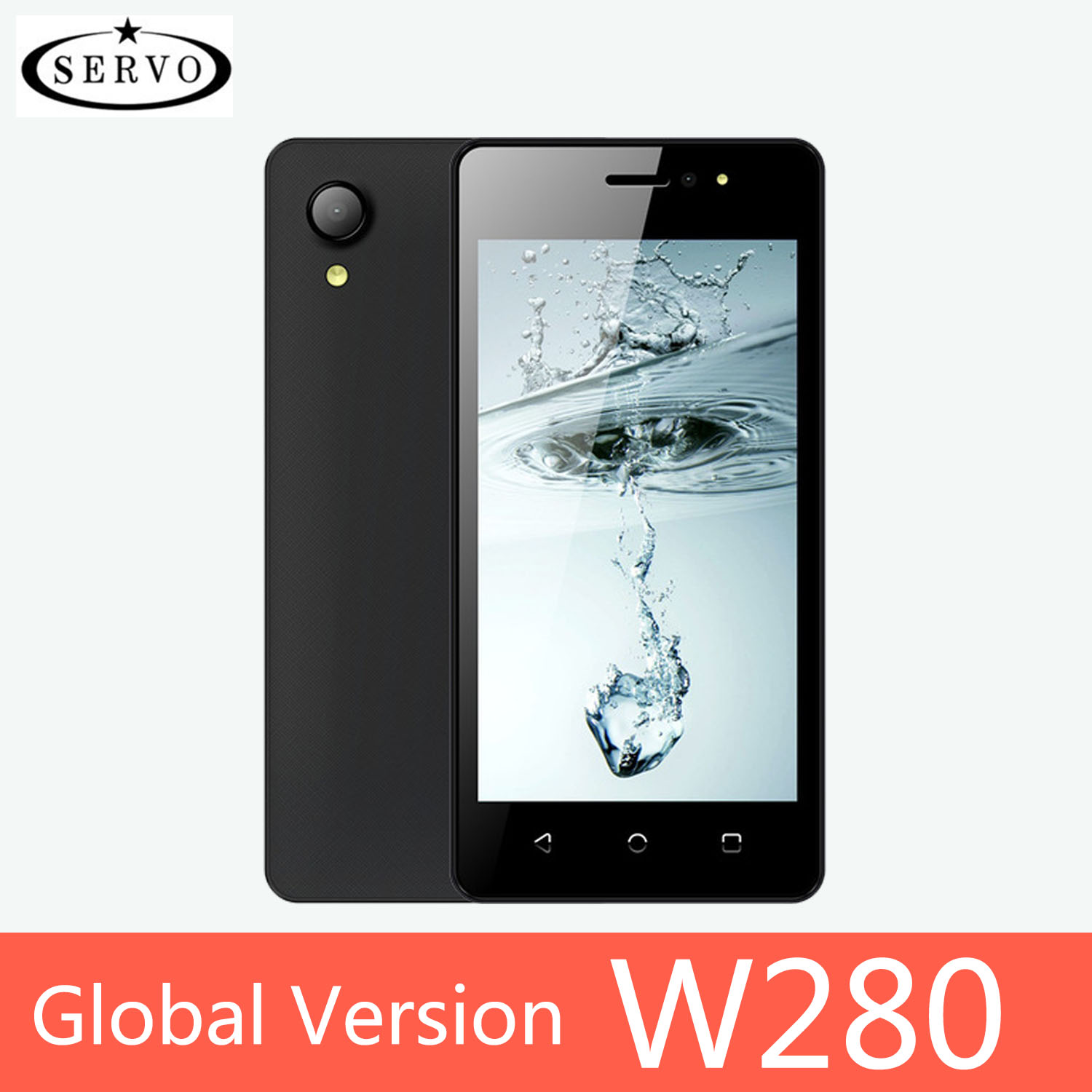 SERVO Smartphone W280 Quad Core 2800mAh Android 7.0 cellphone GPS 4.5 Screen MTK6580M ROM 4GB Camera 5.0MP WCDMA Mobile Phones image