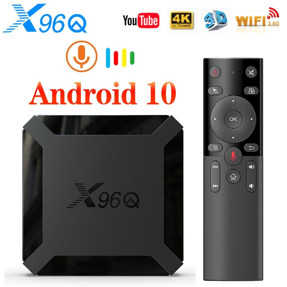 X96Q TV Box Android 10 2GB 16GB Allwinner H313 Quad Core 4K 60fps Smart TVBOX Wifi Google Player Youtube X96 Set Top Box