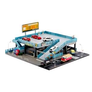 Image 2 - 1/64 minyatür model japon tarzı model araba oyuncak sahne sokak görünümü çift garaj otopark oyuncak hediye kutusu